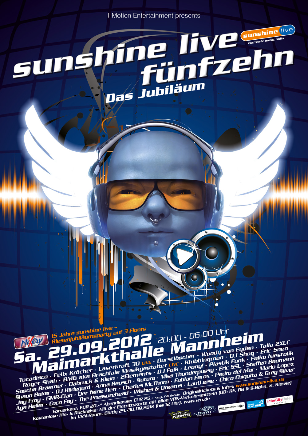 sunshine live 15 Jubiläumsparty – Timetable out now