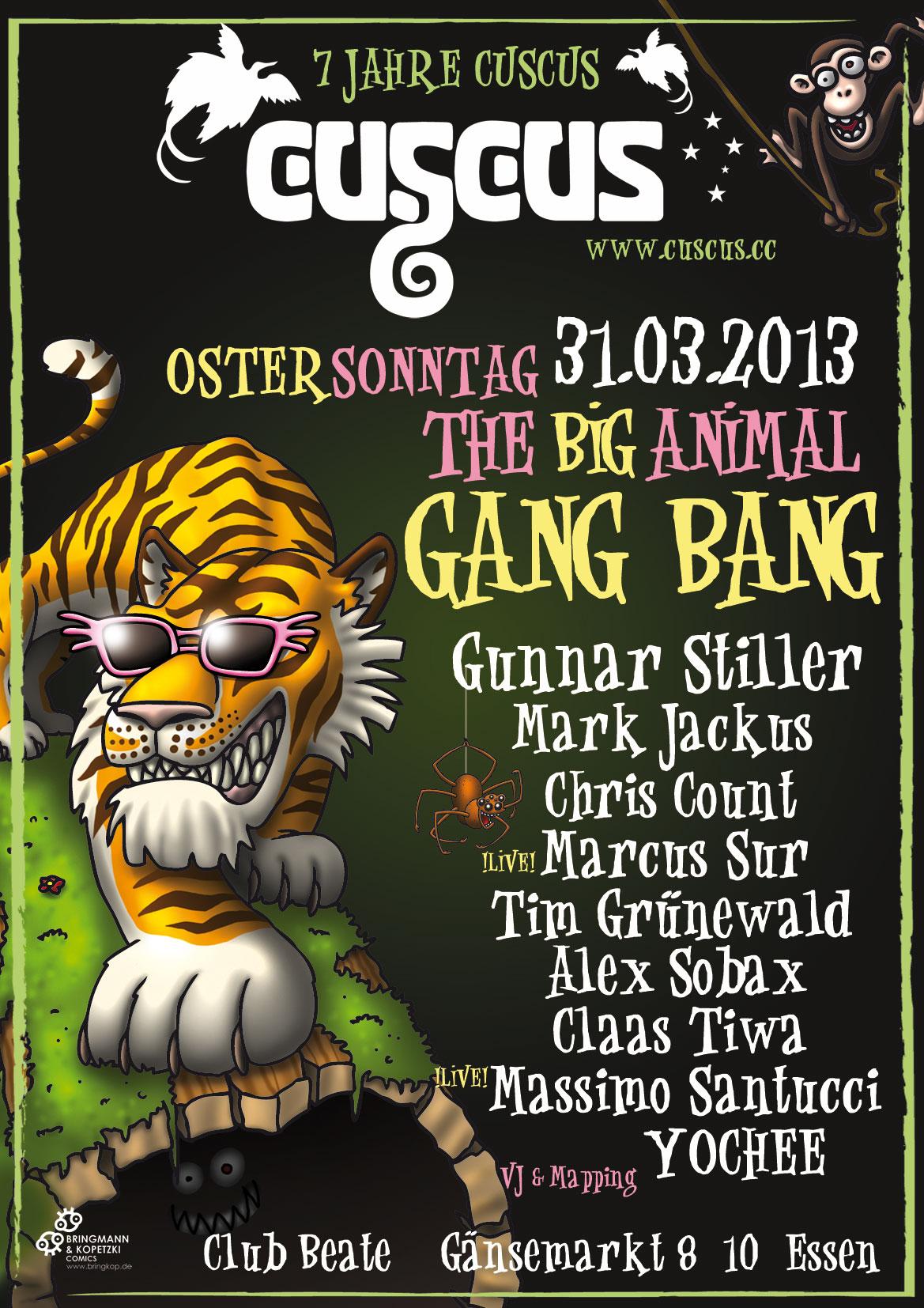 """CusCus 7 Jahres Bday Party"" im Club Beate in Essen"