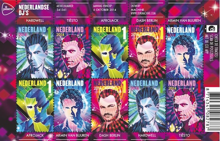 Niederlande ehren ihre Star-DJs mit eigenen Briefmarken