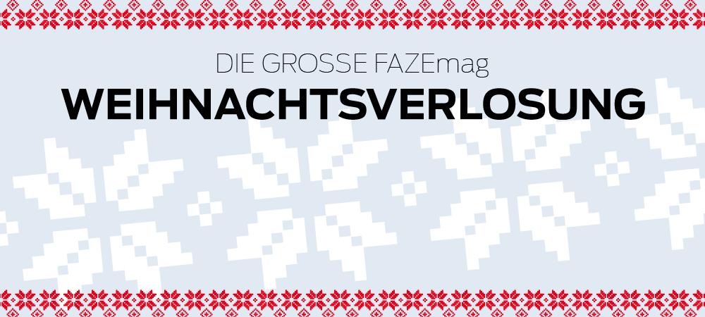 Die große FAZEmag Weihnachtsverlosung 2014