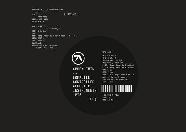 "Aphex Twin präsentiert ""Computer Controlled Acoustic Instruments pt2"""
