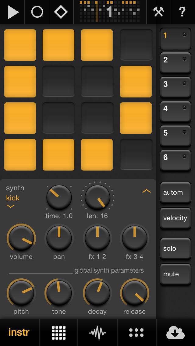 Elastic Drums – Drum-Synthese auf dem iPhone und iPad